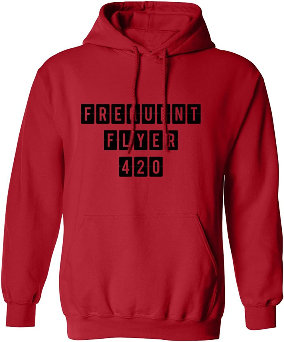 Frequent Flyer 420 Adult Hooded Sweatshirt in Red - XXXXX-Large