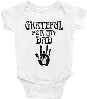 LiliGift Grateful for My Dad Infant Bodysuit Baby Deadhead Grateful Dead Baby