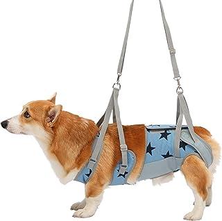 With(ウィズ) 歩行補助ハーネス LaLaWalk 中型犬・コーギー用 スターデニム CLサイズ