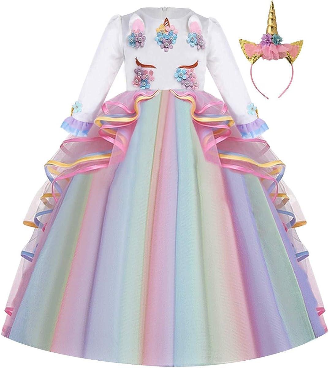 MYRISAM Unicorn Costume Princess Birthday Party Pe Max 73% OFF Pageant In stock Dance