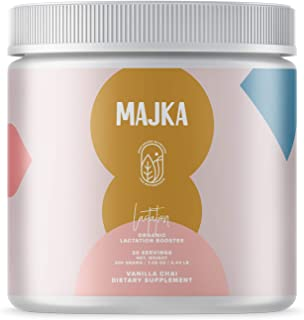 Majka Organic Lactation Supplement Powder for Breastfeeding Moms | Increase & Nourish Milk Supply with Galactogenic Herbs(Vanilla Chai)