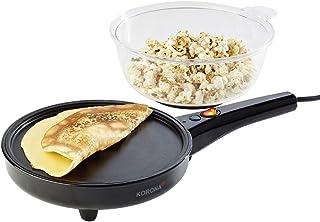 Korona 41050 Máquina para hacer crepes, palomitas o huevos fritos, 800 W, Negra