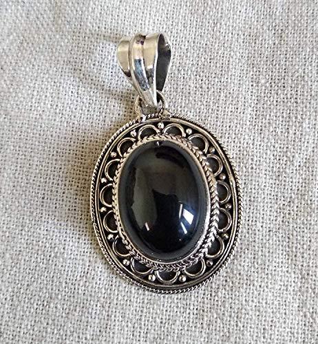 Stylish Necklace Bohemian Onyx Gemstone Gypsy Style Necklace Boho Chic Necklace in Solid 925 Sterling Silver Personalised Necklace