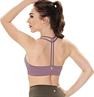 Women's Light Support Double-T Back Wirefree Pad Yoga Sports Bra 16018