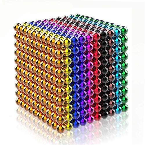 Magic Ball für Tafel, Magic Building Toys, 1000PCS 5MM for Office, Home, Education & Stress - Desk Toy, Magnet Provides Relief for Anxiety