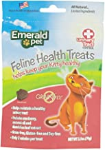 Emerald Pet - Feline Cat Treat, Cat Chew, Chewy Cat Snack Treats, Urinary Control, Grain-Free Kitty Treats, All-Natural with Real Meat (Feline Health and Urinary Tract Control, 2.5 Ounces)