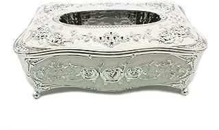 silver tissue box