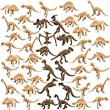 48 PCS Dinosaur Fossil Skeleton Dinosaur Skeleton Toys Assorted Figures Dino Bones for Birthday Party Room and Desk Decorations Science Play Dino Sand Dig Party Favor Decorations