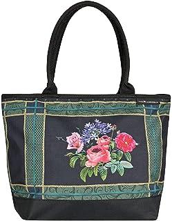VON LILIENFELD Tasche Eva Maria Nitsche: Bonny Bouquet Umhängetasche Einkaufstasche Gross Shopper Casual Leicht Kunst Blumen Rosen