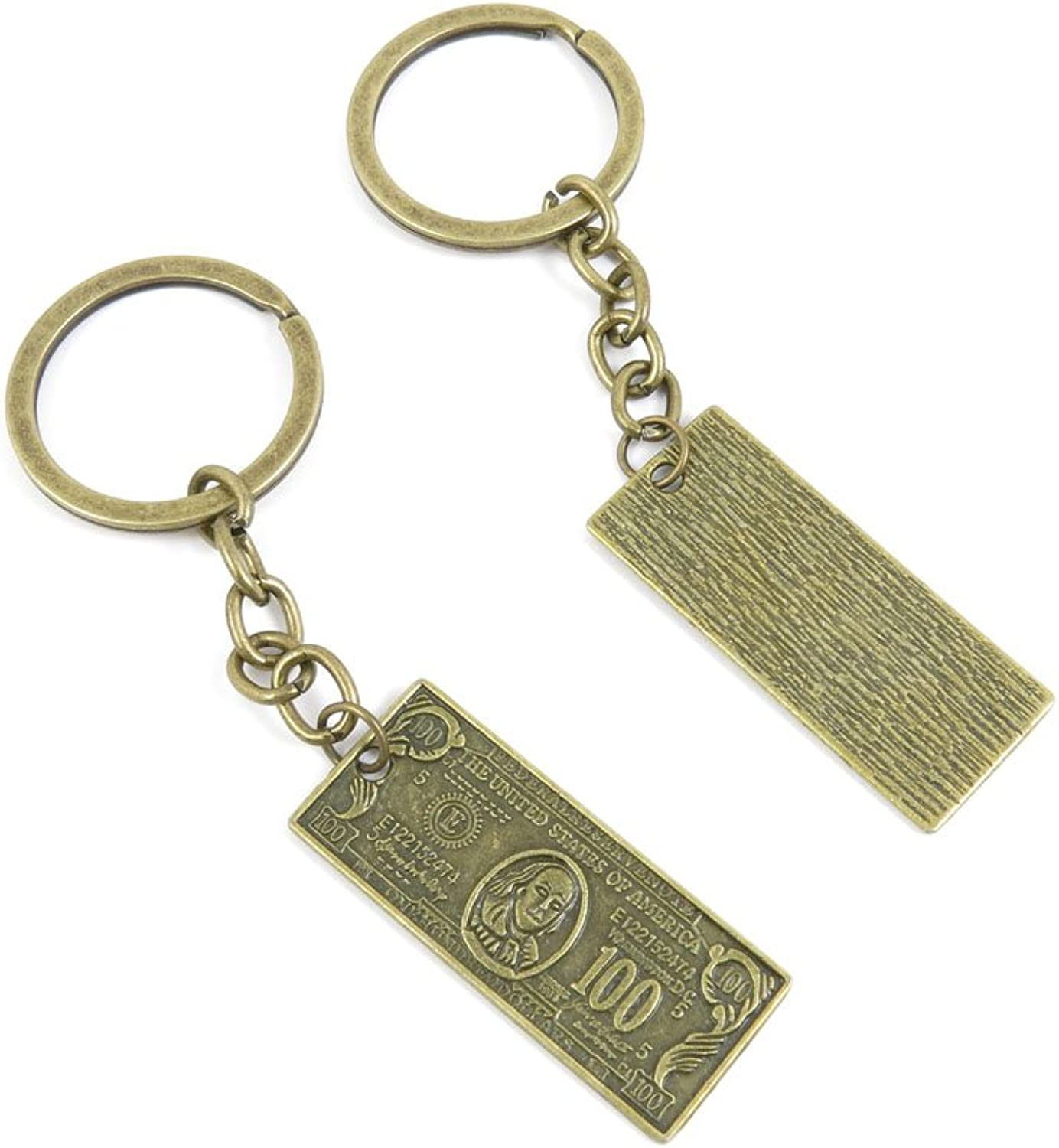 80 PCS Keyring Car Door Key Ring Tag Chain Keychain Wholesale Suppliers Charms Handmade X4EH4 100 Dollar