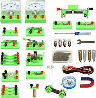 GEDIAO School Physics Science Lab Basic Circuit Kits Electricity and Magnetism Experiment for Kids Junior Senior High School Students Electromagnetism Elementary Electronics