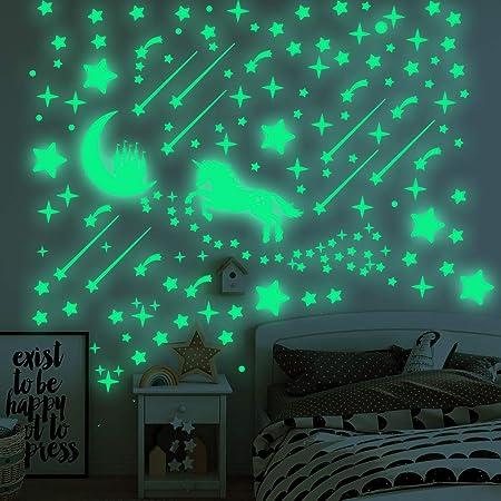 Bedroom Glow In The Dark Star Wall Stickers 24 Unicorn G.I.D Night Lights