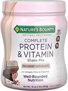 Nature's Bounty Optimal Solutions Protein Shake Chocolate, 16 Ounce (Pack of 1)