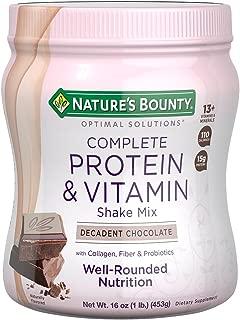 Nature's Bounty Optimal Solutions Protein & Vitamin Shake Chocolate