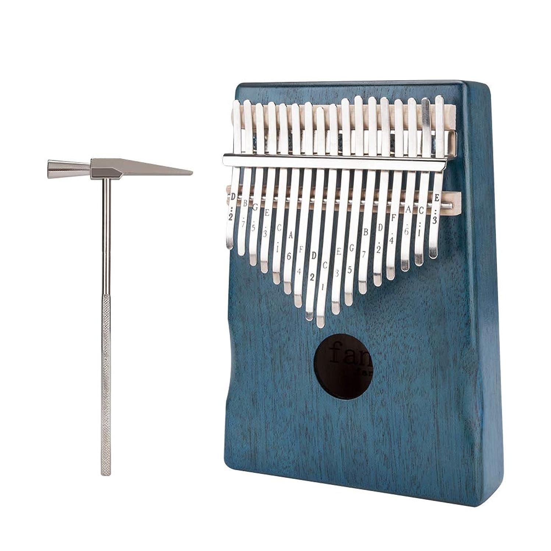 Kalimba 17 Keys Thumb Piano Finger Piano Mahogany Body Tuning Hammer and Study Instruction