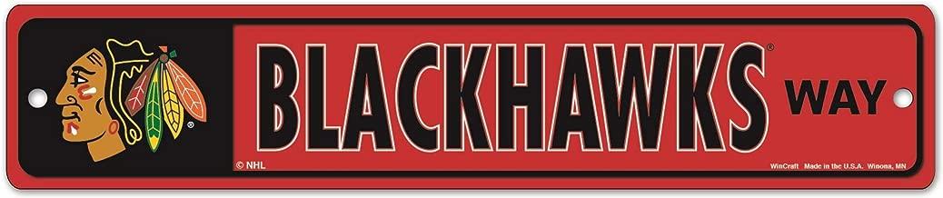 WinCraft NHL Chicago Blackhawks 27841010 Street/Zone Sign, 4.5