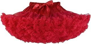 chouyatou Women's Girls Elastic Waist Multi-Layer Tulle Tutu Short Skirt Petticoat