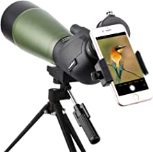 Gosky Spotting Scope with Tripod, Carrying Bag and Scope Phone Adapter - BAK4 45 Degree Angled Eyepiece Scope for Target S...