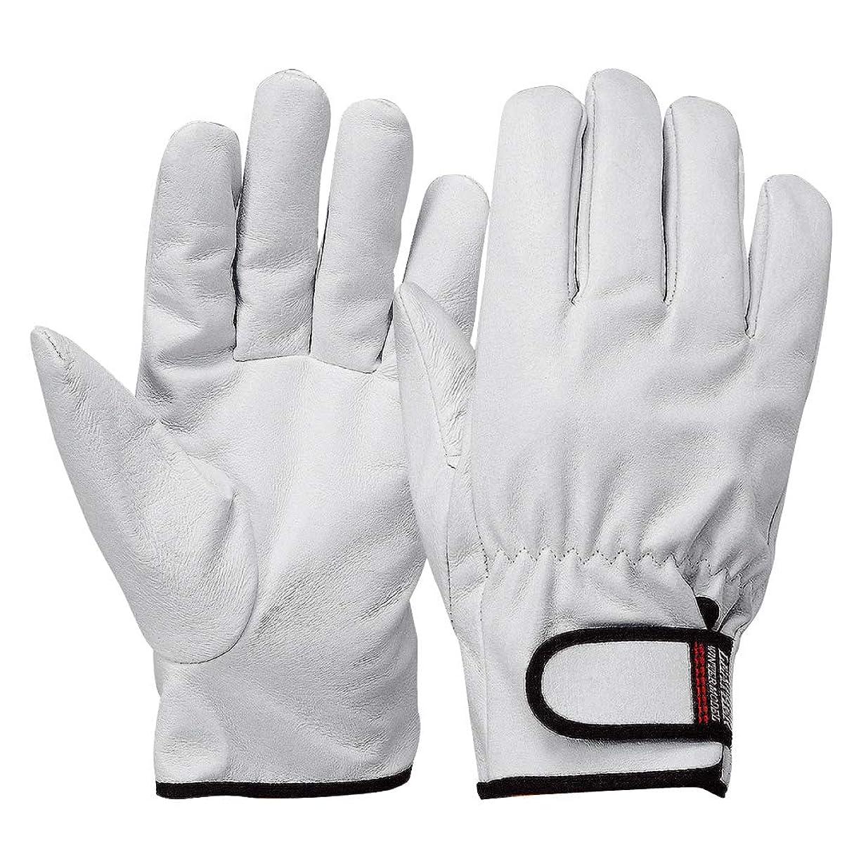 ビルダー何もないペインティングおたふく手袋 防寒革手袋 豚クレスト マジックタイプ インナーフリース L JW-866