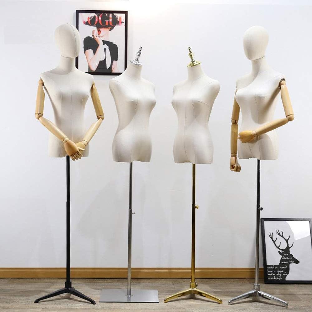 Barture Vrouwelijke Tailors Dummy Mannequin Dressmakers Dummies Mode Studenten Display Bust Effen Hout Arm Afneembaar Gebruikt Voor Kleding Sieraden Display Stand D