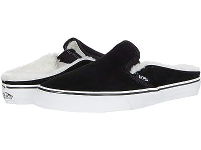 Vans Classic Slip-On Mule ((Suede)Black Sherpa) Shoes