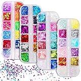 Mariposa Glitter para Uñas 48 Colores, Mariposas para...