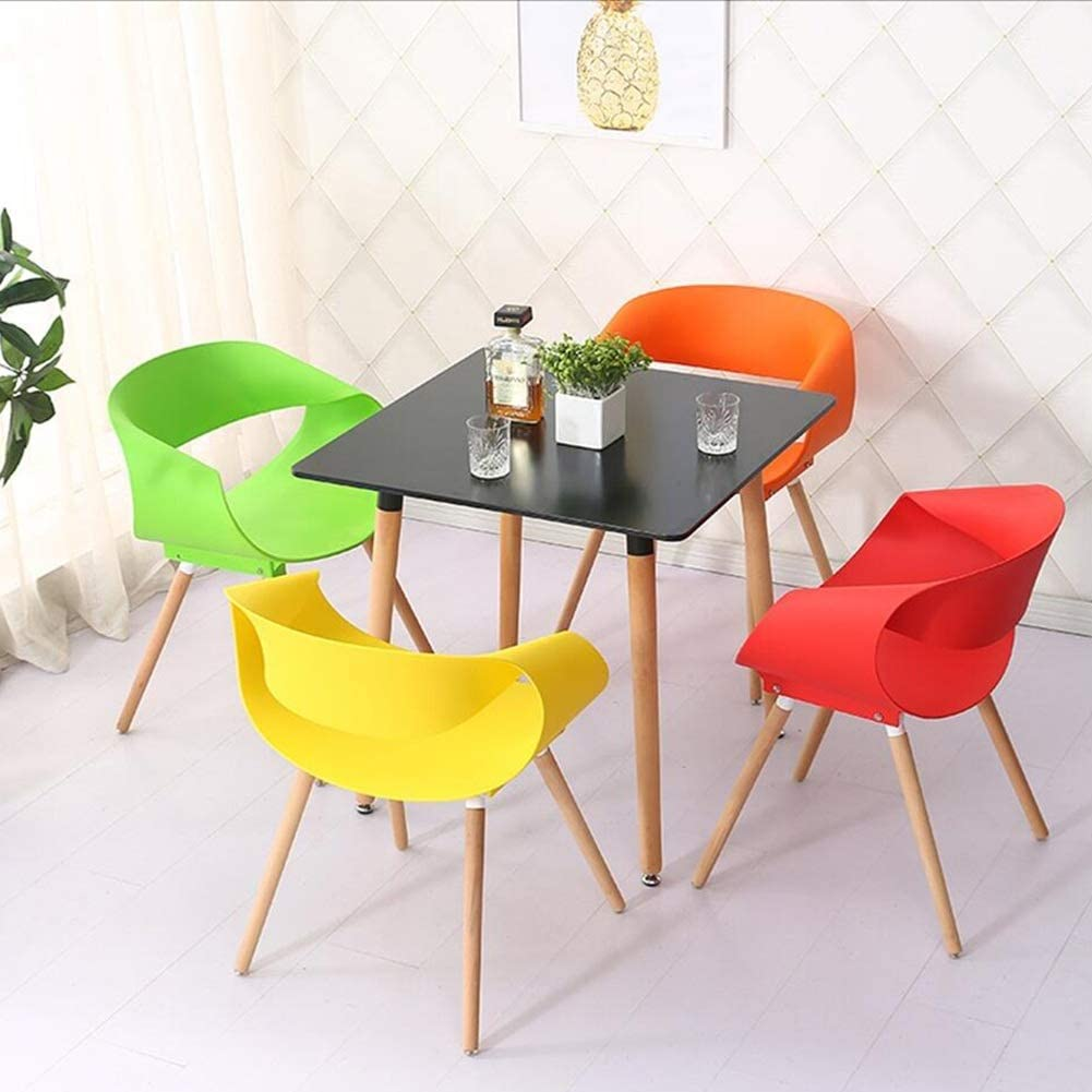 Chaise Fauteuil Siège Chaises Chair Plastique Négocier Occasionnel Divertir Accoudoir Créativité Simple Courbe FENPING (Couleur : Blanc) Le Jaune