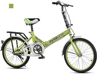 B-D Bicicletas Plegables De 20 Pulgadas Bicicleta Plegable Urbana Ligera para Mujer, Marco De Acero De Alto Carbono, Micro...
