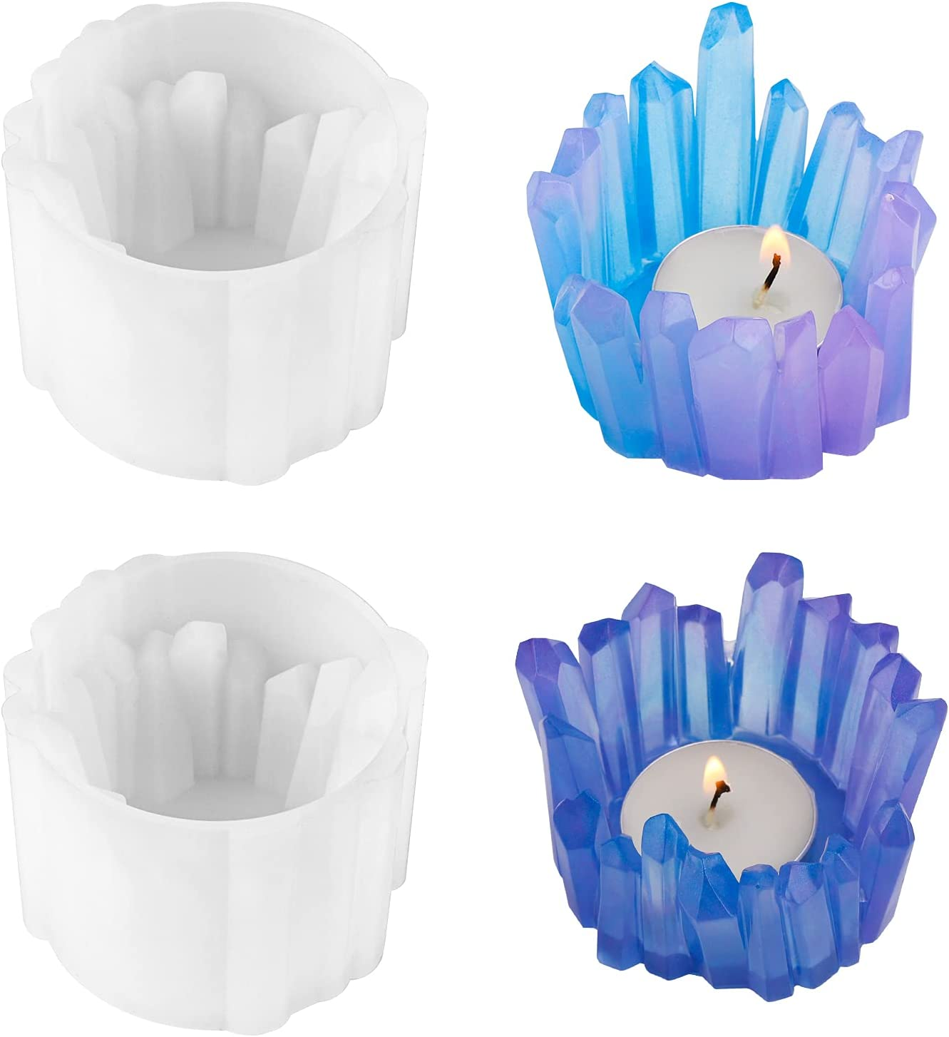 2PCS Candlestick Resin Molds Gartful Mol Candle Genuine Special Campaign Silicone Holder