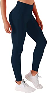 "BUBBLELIME 22""/26""/28"" Inseam Yoga Pants Inner Pocket Running Pants High Waist w Single Line(Long Pants&Capris)"