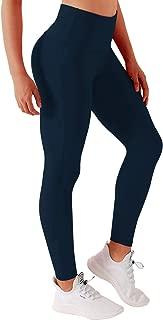 BUBBLELIME 26/28 Inseam Yoga Pants Inner Pocket Running Pants High Waist Single Line Long Pants
