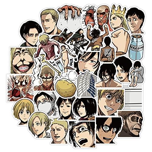 CHENX Pegatinas de Manual de Attacking Giant, álbum de Fotos caseras, Pegatinas de Anime, Material periférico de Manga Hecho a Mano, Conjunto de Pegatinas, 40 Piezas
