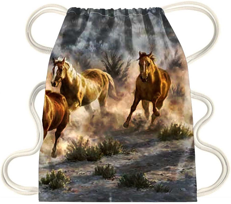 IRocket  Wild Horses 2  Drawstring Backpack Sack Bag