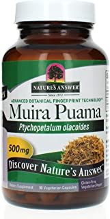 Nature's Answer Muira Puama Bark Capsules 90 Count | Promotes Sexual Health | Natural Energy Supplement | Libido Extender