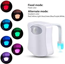 Hotstype 8 Colors LED Motion Activated Sensor Automatic Toilet Bowl Night Lights