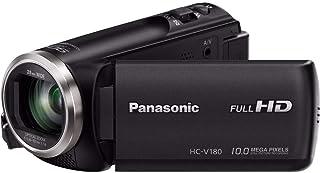 Panasonic Full HD Camcorder HC-V180K, 50X Optical Zoom, 1/5.8-Inch BSI Sensor, Touch Enabled 2.7-Inch LCD Display (Black) ...
