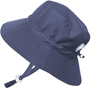 Jan & Jul Baby Infant UV Protection Factor 50+ Sun Hat Adjustable Head Size with Drawstring Waterproof Adjustable Chin Strap