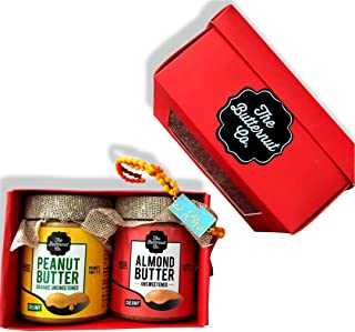 "The Butternut Co. Deliciously Healthy Rakhi Gifts of Unsweetened Almond Butter Creamy, 200g + Organic Unsweetened Peanut Butter, 200g + Tipsyfly ""Lil bro"" Rakhi"