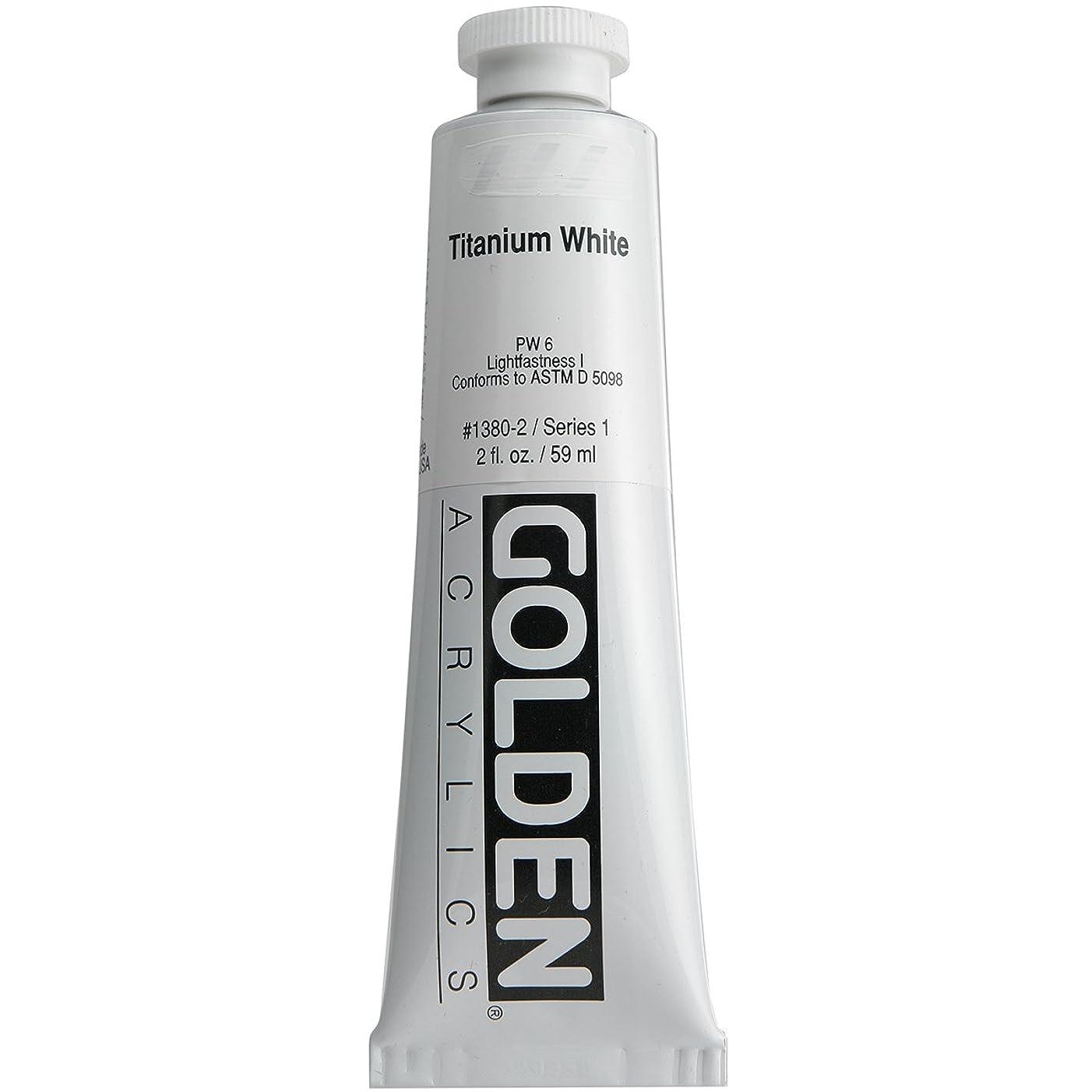 Golden GLDNHB-13802 Heavy Body Acrylic Paint, 2-Ounce, Titanium White