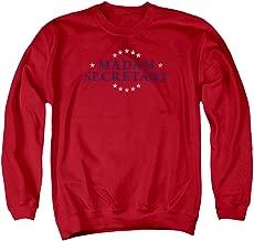 MADAM SECRETARY Men's Distress Logo Sweatshirt Red