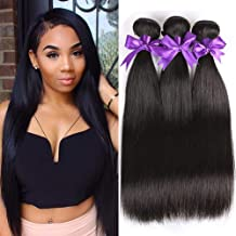 8A Brazilian Straight Hair 3 Bundles 18 20 22inches 300g 100% Virgin Unprocessed Straight Human Hair Bundles Mink Brazilian Hair Bundles Straight Weave Kandis Hair Extensions Natural Color