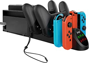 Charger Dock for Nintendo Switch Joy-con and Pro Controller, Charging Station Replacement Accessories for Nintendo Switch ...