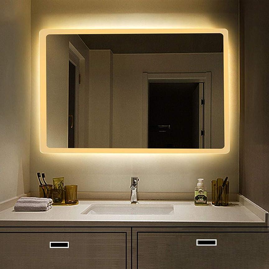 部族リハーサル分解するLED照明付きバスルームミラーライト/長方形バニティミラー/水平および垂直/バックライト/壁掛け