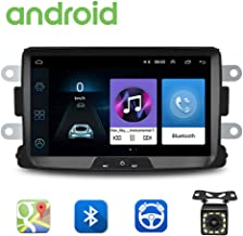 Radio de Coche Android para Renault Dacia GPS CAMECHO Pantalla Táctil Capacitiva de 8 Pulgadas Reproductor Estéreo de Coche WiFi Bluetooth FM USB Dual para Sandero Duster Logan Dokker