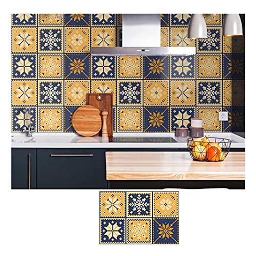 ZHANGDONG Pegatinas de Baldosas de PVC Mate para Despegar Y Pegar Adhesivo para Azulejos de 60x40 Cm (23,6x15,7 Pulgadas) Paneles de Pared Gruesos 3D de 10 Piezas de 0,78 Mm Adecuado para Baño/Coci