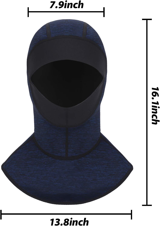 RUIXIA Cagoule de Plong/ée en N/éopr/ène 3mm Cagoule de Plong/ée Thermique Unisexe Bonnet pour Plong/ée Natation Surf Protection T/ête et Cou Chapeau de Plong/ée UPF50 Protection Solaire