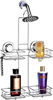 BRIOFOX Shower Head Caddy 4 Basket, Powerful Adhesive Cup Non-Fall Down and Never Rust 304 Stainless Steel