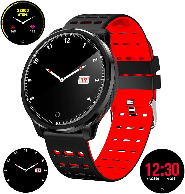 Aktivittstracker Fitness-Tracker Smart Watch Herzfrequenz-Monitor, Schrittzhler Kalorienerkennung IP68 Wasserdichte Blautooth-Uhr kompatible iOS Herren- und Damenuhren
