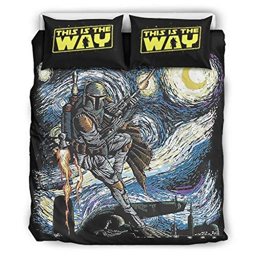 XHJQ88 Wars of Stars Juego de funda de edredón y fundas de almohada de 3 piezas – Juego de sábanas ultra suaves BOHO blanco 264 x 228 cm