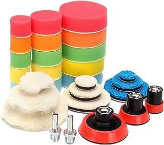 Kesoto Kit de almofadas de polimento de carro kit de esponjas para polimento de detalhes do carro